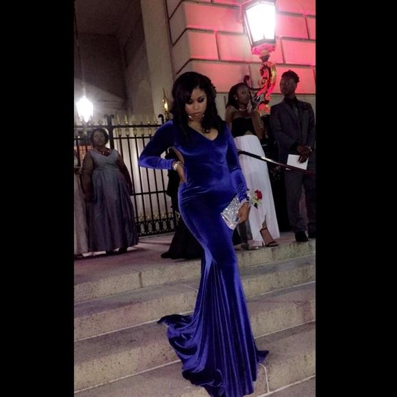 Dresses Royal Blue Velvet Prom Dress Poshmark